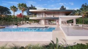 Gated Community, wunderschöne Villa mit Meerblick in Benahavis -Marbella