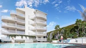 Wunderschöne Neubauwohnung in Benalmadena Costa mit Meerblick