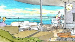 Vor dem Frühstück zum Baden ins Meer Luxus Wohnung in direkter Strandlinie von Fuengirola